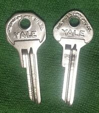 OEM YALE KEY BLANKS (2) for 1949-55 DESOTO CHRYSLER DODGE 49-58 PLYMOUTH NOS