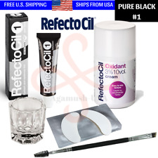 Refectocil PURE BLACK #1 Tint Eyelash Eyebrow Professional Tinting Kit Hair Dye