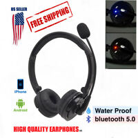For Truck Driver Wireless Headphones Bluetooth Boom Mic Headset Noise Cancelling