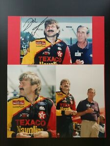 3 Mounted 4x6 Matte Photos Photographs Dale and Ned Jarrett Texaco Havoline