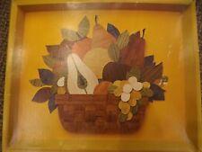 Mid Century Buzza Cardozo Wood Grain Mosaic 12x14 Fruit Bowl Picture Crafts Kit