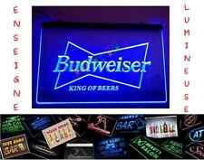 RARE PANNEAU PUB BIERE BEER BUDWEISER LED ENSEIGNE BAR CAFE LUMINEUSE NEON LAMPE