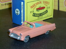 Matchbox Lesney Ford Zodiac Convertible RARE 39 a4 SPW D-R SC11 NM crafted box
