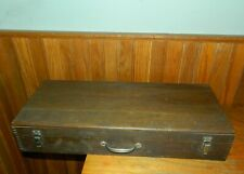 VINTAGE STANLEY WOOD TOOL CHEST WITH DOVETAILING EDGES/ORG. LABEL