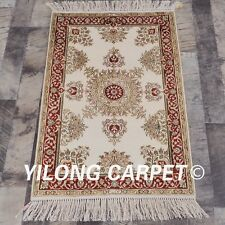 YILONG 2'x3' Handmade Silk Rug Medallion Floral Home Decor Mat Carpet 824B