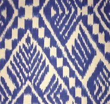 BRUNSCHWIG & FILS Malay indigo printed linen new remnant