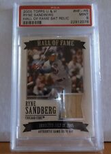2005 Topps U & H #Hf-Rs - Ryne Sandberg - Hall Of Fame Bat Relic - Psa - 9 Mint