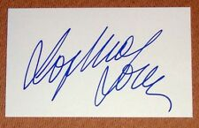 SOPHIA LOREN PERSONALLY SIGNED AUTOGRAPH INDEX CARD