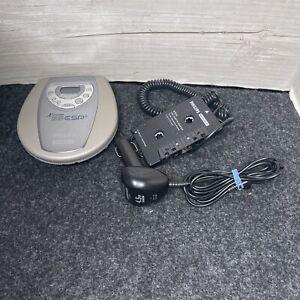 Portable Phillips Magnavox X-treme 25 ESP CD Player AZ7783/17 And Car Kit TESTED