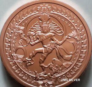 2019 2 oz Silver Shield NATARAJA DOLLAR Copper BU Mini-Mintage! Only 549 Made!