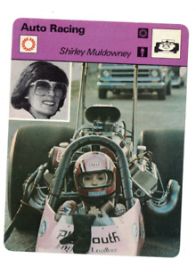 Shirley Muldowney Drag Auto Racing 1979 Sportscaster Card Italy 63-12