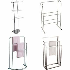 Towel Holder 3 5 Tier Bar Freestanding Bathroom Drying Rack Hanger Storage Unit