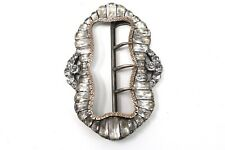 A Gorgeous Large Antique Georgian Sterling Silver 925 & Gold Paste Buckle #24270