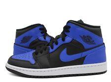 Nike Air Jordan 1 Mid Hyper Royal Black 554724-077 Men's and GS SIZES