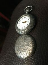 Pocket Watch #138810. Not Working Usa Sterling Silver Antique Victorian