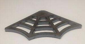 """Spider Web Steel Gusset, 3/8"""" Mild Steel, Weld Gusset, 5"""" x 5"""" Legs"""