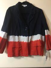 Michael Kors 100% Linen Dip Dyed Jacket, Women's Size 16