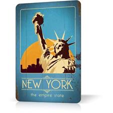 METAL TIN SIGN MANHATTAN NEW YORK SOUVENIR #3 Vintage Retro Decor HomE Poster