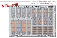 Eduard PE 49098 1/48 Seatbelts Luftwaffe WWII bombers STEEL