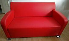 divano in similpelle rosso cartier due posti - perfetto stato - come nuovo