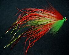 PIKE FLY PULSE TIED TO 50 MM. PLASTIC TUBE 8 INCHES LONG