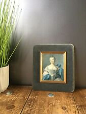 MID CENTURY 1960'S VELVET PICTURE PHOTO FRAME PLYWOOD VINTAGE VICTORIAN STYLE