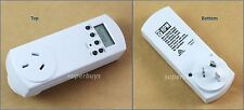 HPM Slim Digital Electrical Powerpoint Power Point Timer with Battery Back-up