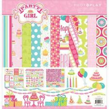 Birthday Party Girl Collection Kit 12X12 Scrapbooking Kit Photo Play PG2178 New