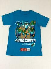 Mojang Minecraft Shirt Boys XS 4 New Zombie Series Steve T-Shirt Turquoise
