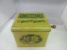 Vintage Melody Player Tin Misic Box Wind Up Roller Player 431-