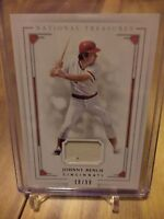2016 National Treasures JOHNNY BENCH JERSEY CARD /99