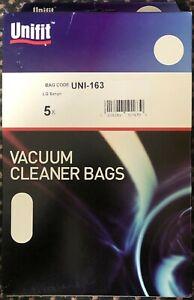 5x UNIFIT UNI163 LG SANYO Hoover Bags