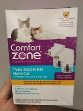 Comfort Zone Multi-Cat Two Room 2 Diffusers & 2 Bottles 1.62 fl oz 48 ml New