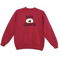 Vintage 1999 BARN GODDESS Lee Heavy Sweatshirt Womens M Medium Red by Stirrup CC