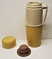 Vintage Thermos. Coffee Thermos. Tan and white. Model 6402. Quart size