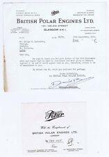 1955 Billhead - British Polar Engines Ltd, Helen Street GLASGOW