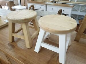 Small tiny timber milking stool little timber stool kids chair plant stand