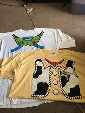 Disney Pixar Toy Story Buzz Lightyear Woody Costume Adult 2XL XXL Shirts NWOT