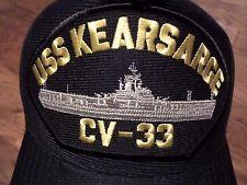 USS KEARSARGE CV-33 NAVY SHIP HAT U.S MILITARY OFFICIAL BALL CAP U.S.A MADE