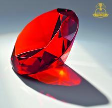 """Geschenk Glas-Diamant """"Rot"""" Glastrophäe (Geburtstag, Weihnachten etc.)"""