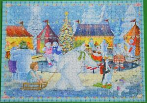 """""""THE SNOWMAN AND THE SNOWDOG"""" RAVENSBURGER CHRISTMAS 1000 PIECE PUZZLE L@@K!"""