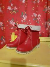 Red Winter Boots Size 5 / 38 new