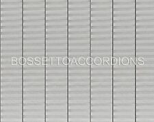 Accordion BELLOWS TAPE SILVER WITH STRIPES Roll 24mm x 8.89m (350 inches) PARTS