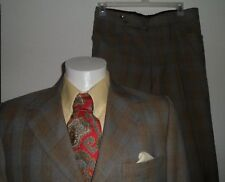 USA vtg LORD WEST 2 pc 3 bn Suit 40 Blazer Jacket SILK PAISLEY LINING Pant 34x30