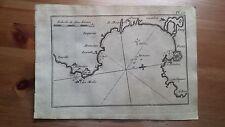 """1817 Allezard: Mapa Bahia de  Rosas o Roses """"Rose"""" (Gerona Cataluña España)"""