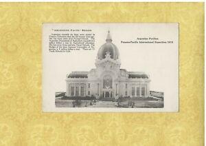 X Argentina 1915 postcard PAVILLION Pan Pacific Int Exposition Fact Series