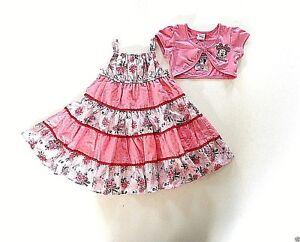 Baby Girl's Minnie Mouse Sun Dress & Short Sleeved Bolero Set -Age 18-23 mos NEW