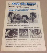 """Follow Me!"" Mia Farrow Topol Jayston Vtg 1972 Danish Movie Press Release Kit"