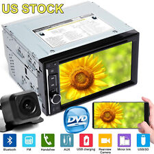 HD Double Din Car Stereo Radio CD DVD Player Mirror Link For GPS + Backup Camera