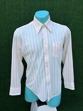 New listing Vtg 70's Infinit Pearl Button Polyester Rockabilly Semi Sheer Shirt Men Sz M